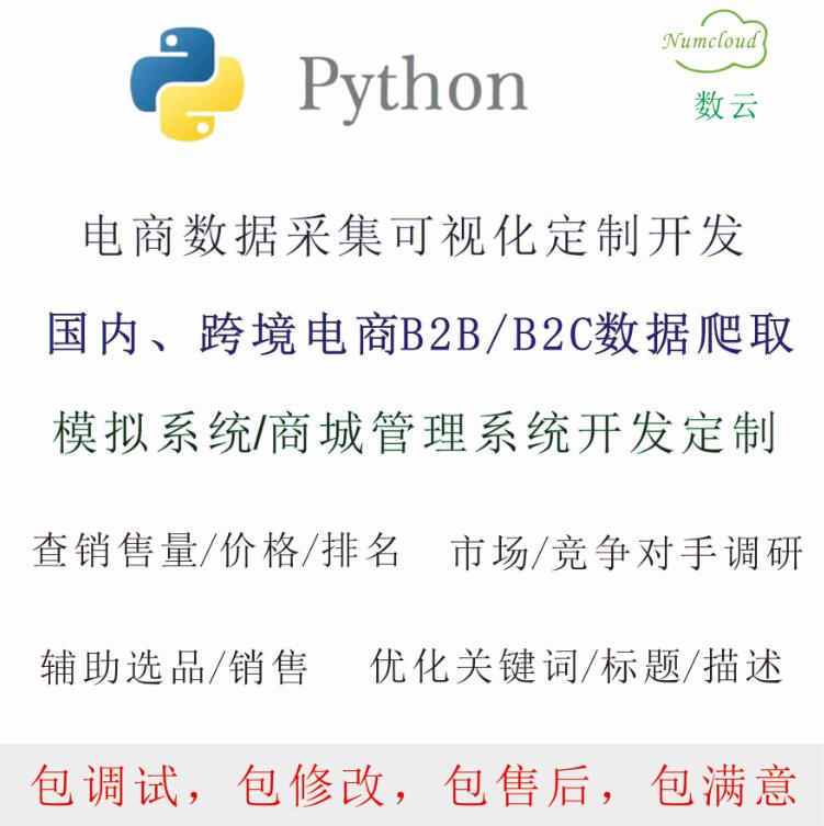 Python选品网页插件 电商选品销售工具软件查询 市场调研竞争对手